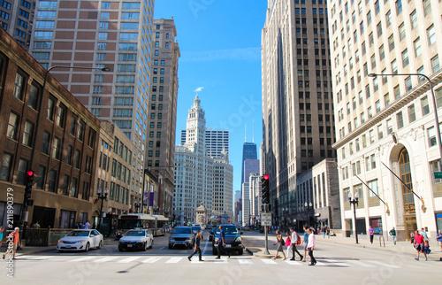 Foto op Aluminium Amerikaanse Plekken Chicago - Magnificent Mile