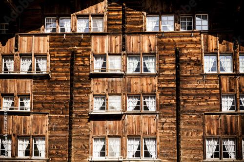 Staande foto Europa Haus in den Alpen