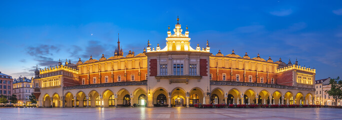 Fototapeta Kraków Sukiennice by night,Main Market Square,Krakow, Poland