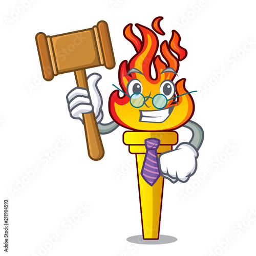 Fotografie, Tablou  Judge torch mascot cartoon style