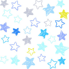 Tapeta 星 シームレスパターン 手描き風