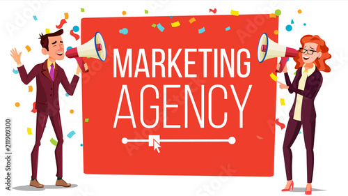Photo  Marketing agency Banner Vector
