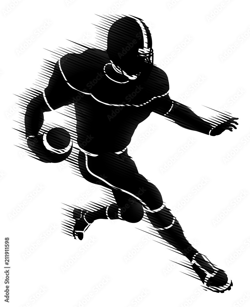 Photo  American Football Player Silhouette Concept