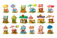 Colorful Street Cart Shop Set,...