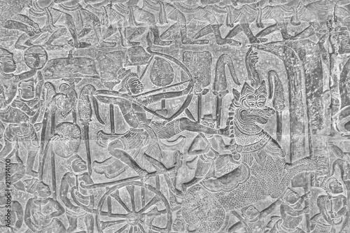 Printed kitchen splashbacks Newspapers ancient temple complex Angkor Wat