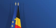 Drapeau - Belgique - Europe - Belge - Européen - Présentation - Fond - économie
