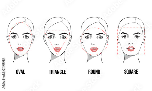 Set of vector face shapes Canvas-taulu