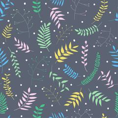 Naklejka Eko botanical seamless pattern. vector print.