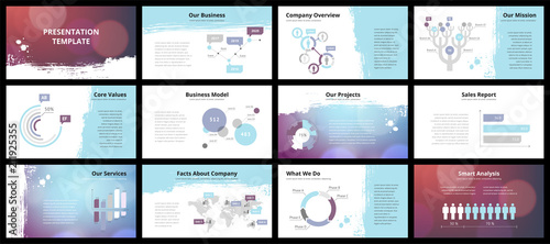 Fototapeta Business presentation templates obraz