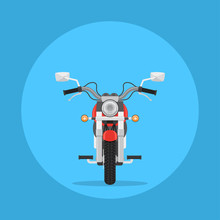 Flat Style Motorbike Picture