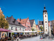 canvas print picture - Marktplatz in Schwandorf in der Oberpfalz