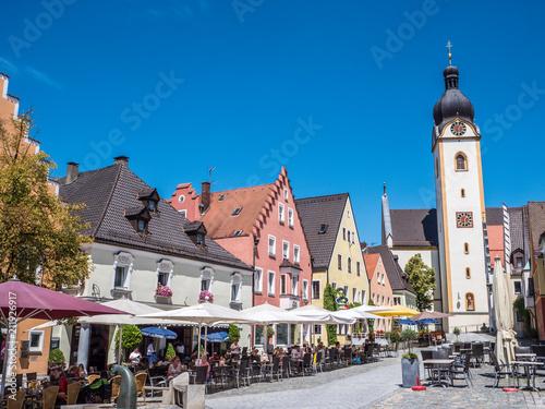 Staande foto Europa Marktplatz in Schwandorf in der Oberpfalz