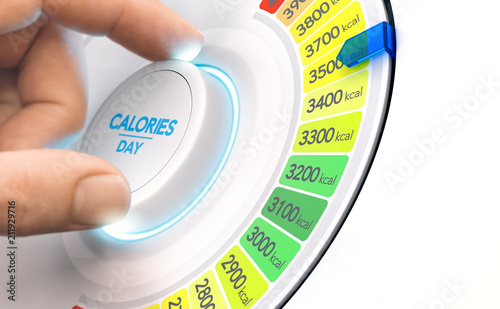 hypercaloric diet, high calories plan Fototapete