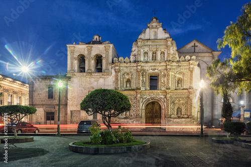 Tuinposter Centraal-Amerika Landen Cathedral, Quetzaltenango, Guatemala