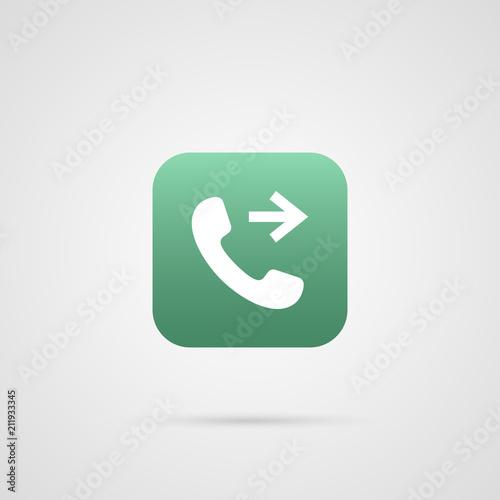 Fotografia, Obraz  call outgoing icon. vector app