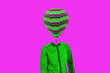 canvas print picture - Surrealistic minimal concept. A balloon instead of a human head. Minimalism and surrealism