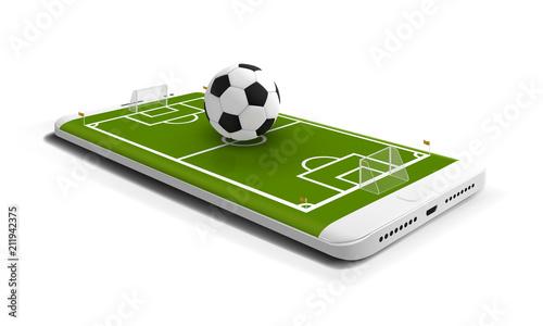 Fotografía  Mobile football soccer