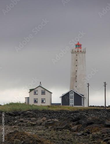 Foto op Plexiglas Stad aan het water Faro a Reykjavik in Islanda