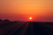 canvas print picture -     Sonnenstrahlen bei Sonnenuntergang