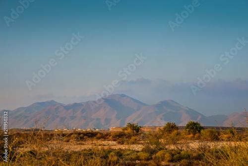 Poster Donkergrijs Serene landscape in natural park, Almeria