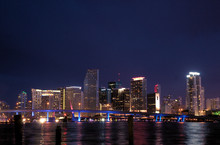 Miami, Florida At Night