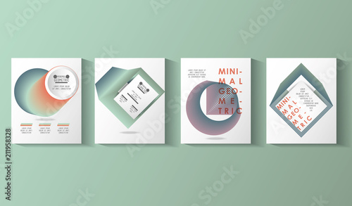 minimal geometric set templates labels vector illustration design Canvas Print