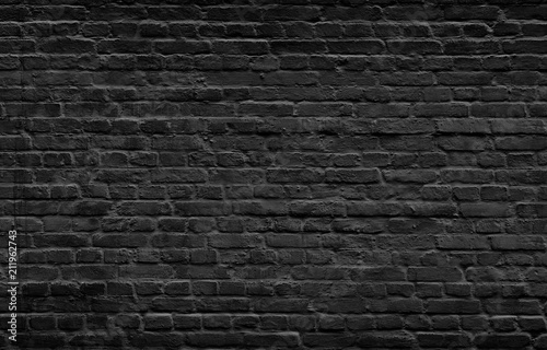 Photo sur Toile Brick wall Dark brick wall background.