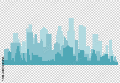 Carta da parati  City skyline vector illustration
