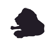 Lion Lies, Silhouette, Vector,