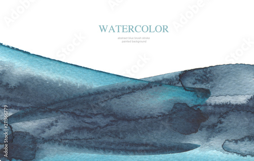 Abstract watercolor brush strokes painted background. Isolated.
