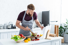 Handsome Bearded Man In Apron ...