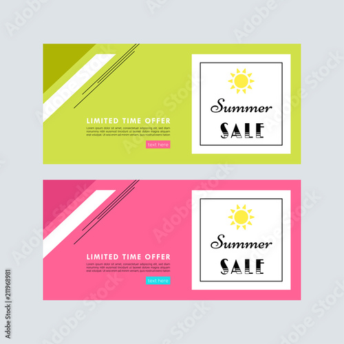 summer sale sale banner template colorful brochure design