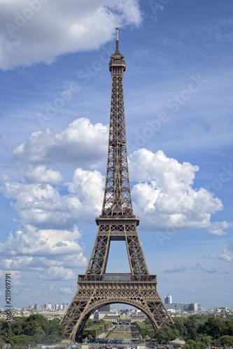 Deurstickers Eiffeltoren Tour Eiffel, Paris, France