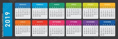 Foto  italian calendar 2019
