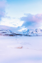 Icy Landscape Of The Lofoten, ...