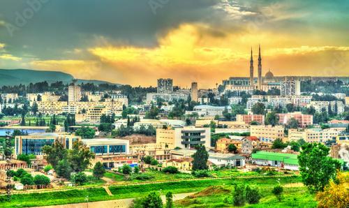Poster Algérie Skyline of Constantine at sunset. Algeria
