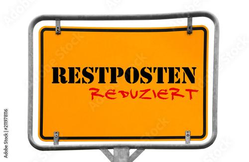 Fotografia  Restposten Wegweiser