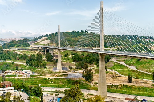 Poster Algérie The Salah Bey Viaduct across the Rhummel Canyon in Constantine, Algeria
