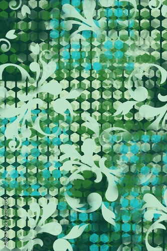 Flourish Background With Unique Grid Abstract Design Pattern One Of