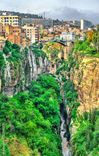 Poster Algérie The Rhummel River Canyon in Constantine. Algeria