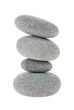 Stones Isolated On White Background