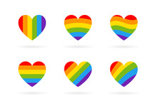 Pride LGBT Heart Vector Icon S...