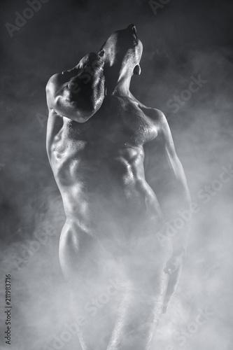 In de dag Akt Beauty sexy body of a sportsman