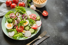 Salad From Fresh Vegetables An...