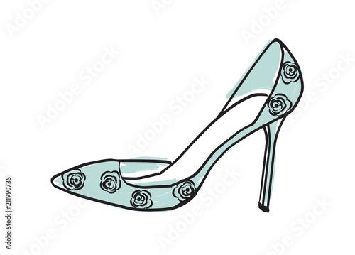 Fototapeta High heel shoe