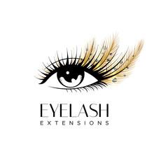 Eyelash Extension Logo. Makeup...