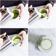 Set Of Making Matcha Tea Cappuccino