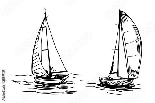 Yacht on the water Fototapeta