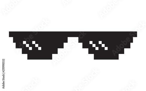 Pixel glasses icon