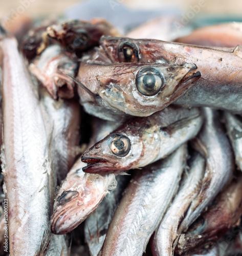 Valokuvatapetti rotten fish on the market.